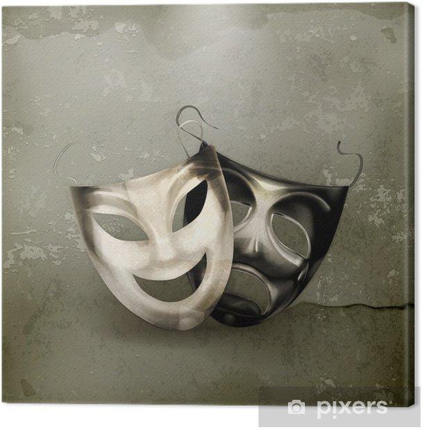 Obraz na płótnie Maski teatralne, w starym stylu - Sztuka i twórczość