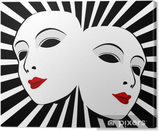 Obraz na płótnie Maski wektorowe. Maski z koncepcji teatru - Sztuka i twórczość