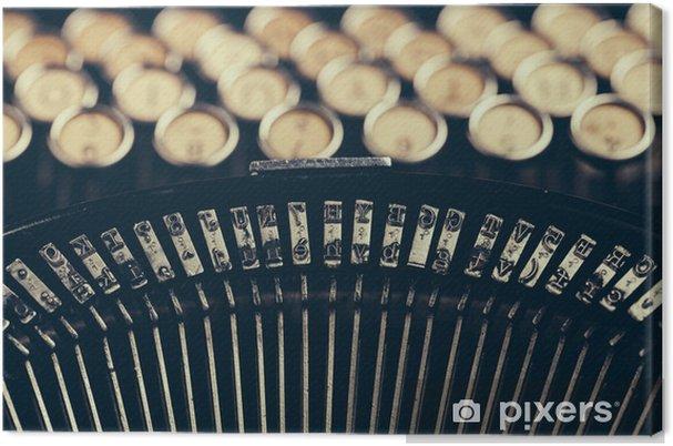 Obraz na płótnie Maszyna do pisania - Warzywa