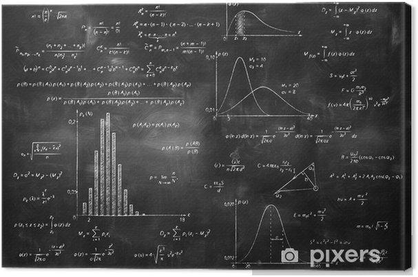 Obraz na płótnie Matematyka fizyka wzory na tablicy - Styl życia