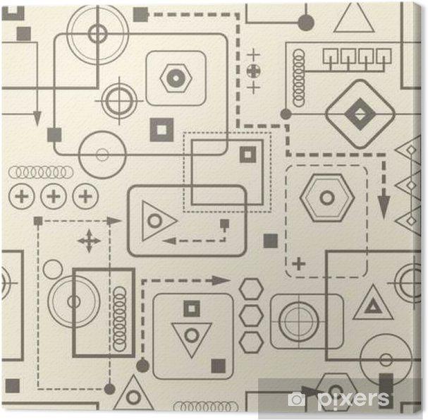 Obraz na płótnie Mechaniczne szwu wzór 2,3 Retro tła. - Zasoby graficzne