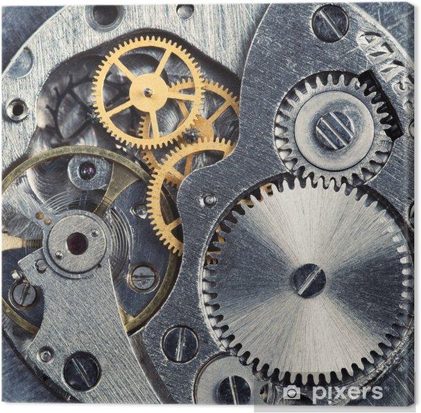 Obraz na płótnie Mechanizm zegara - Maszyny