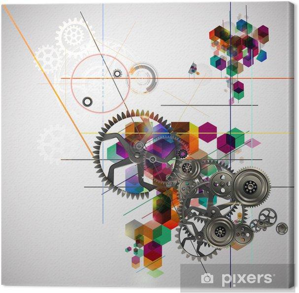 Obraz na płótnie Mechanizm - Abstrakcja