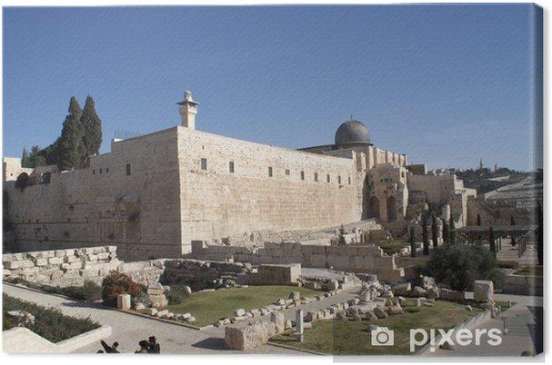 Obraz na płótnie Meczet Al Aqsa w Jerozolimie świętej ziemi - Bliski Wschód