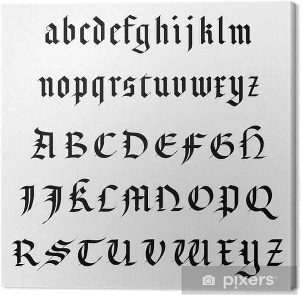 Obraz na płótnie Medieval alfabet - Tematy