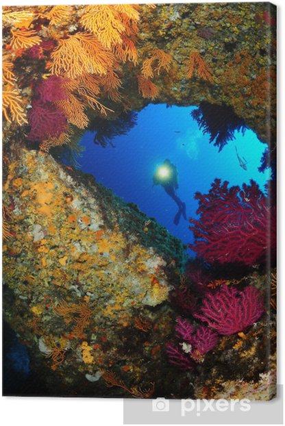 Obraz na płótnie Mediterrannee-krajobraz-submarine - Azja