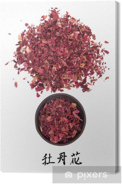 Obraz na płótnie Medycyna kwiatów piwonii - Zdrowie i medycyna