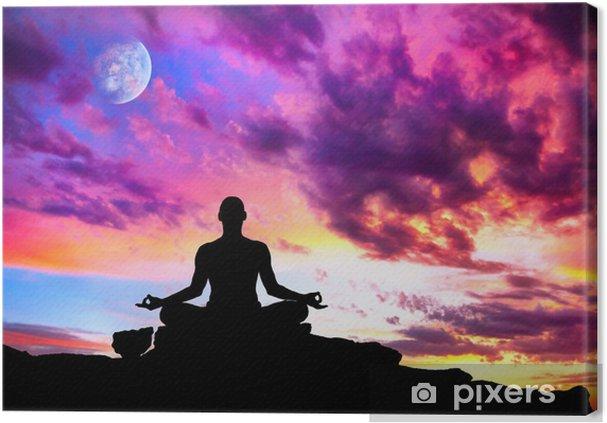 Obraz na płótnie Medytacja Joga stanowi sylwetka - Zdrowie