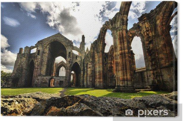 Obraz na płótnie Melrose Abbey HDR - Europa