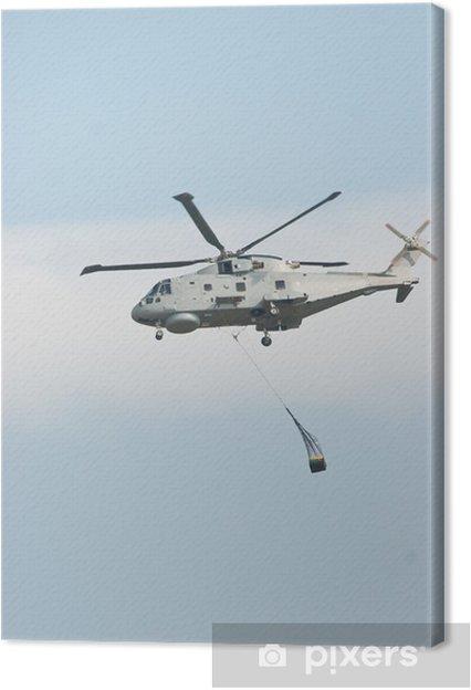 Obraz na płótnie Merlin Śmigłowiec podnoszenia Cargo przeciw błękitne niebo - Transport powietrzny