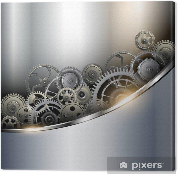 Obraz na płótnie Metaliczne tło z narzędzi technologicznych - Style
