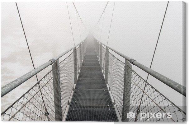 Obraz na płótnie Metallic most w snowy Austriackie Alpy - Tematy
