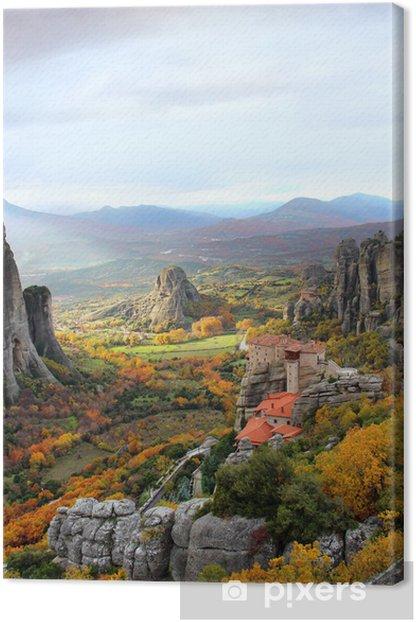 Obraz na płótnie Meteory i klasztory, grecja - Europa