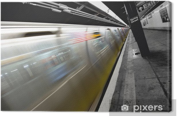 Obraz na płótnie Métro de New York - Pociągi i lokomotywy