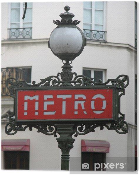 Obraz na płótnie Metro w Paryżu - Miasta europejskie