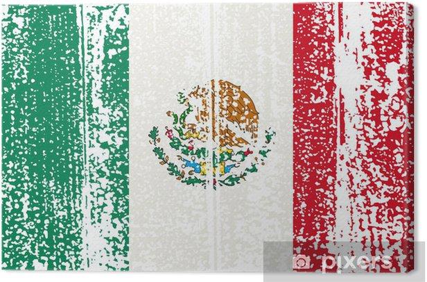 Obraz na płótnie Mexican flag grunge. Ilustracji wektorowych. - Tła
