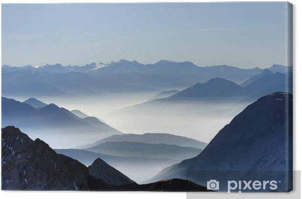 Obraz na płótnie Mgła dolina z Zugspitze 01 - Wakacje