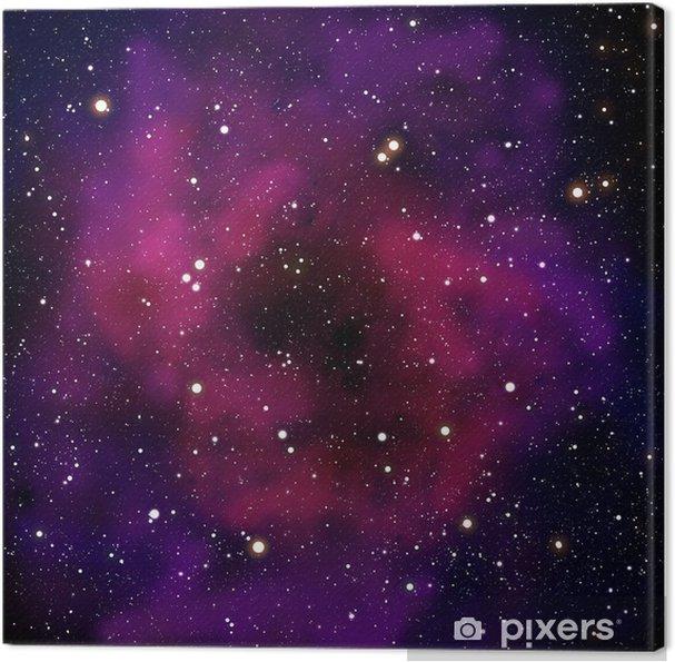 Obraz na płótnie Mgławica i gwiazda w obszarze przestrzeni - Wszechświat