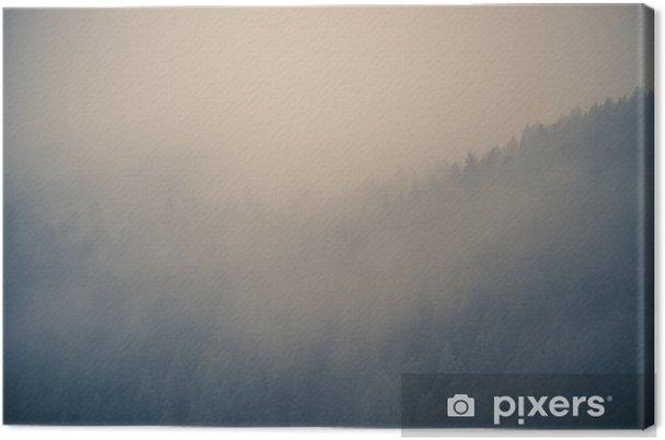 Obraz na płótnie Mglisty las w tle - Krajobrazy