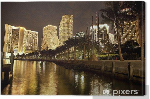 Obraz na płótnie Miami Bayfront nocą - Tematy