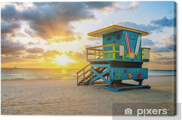 Obraz na płótnie Miami South Beach sunrise - Ameryka