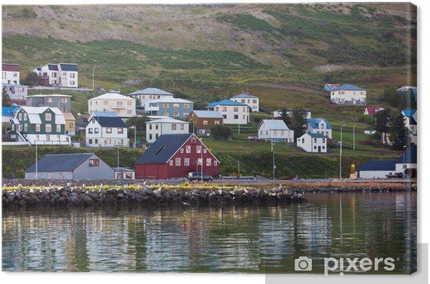 Obraz na płótnie Miasto Siglufjordur, w północnej części Islandii - Europa