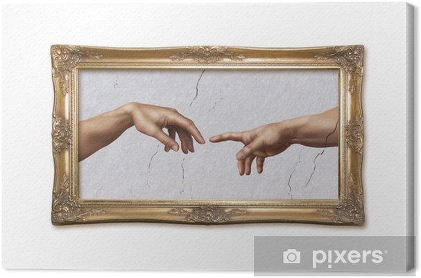 Obraz na płótnie Michał Anioł: Stworzenie Adama - Sztuka i twórczość