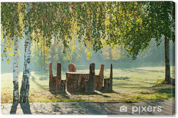 Obraz na płótnie Miejsce odpoczynku w parku - Krajobraz wiejski