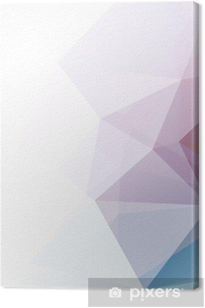 Obraz na płótnie Miękkie pastelowe tło abstrakcyjna geometrycznej wektora gradienty - Style