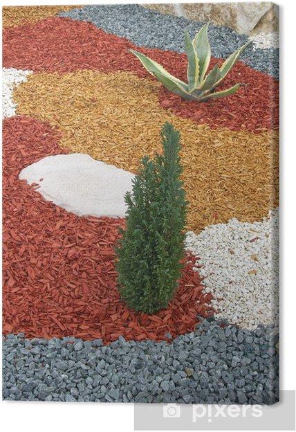 Obraz na płótnie Mierzwa ogród drewno i żwir - Dom i ogród