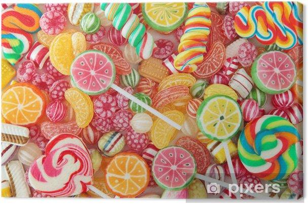 Obraz na płótnie Mieszane kolorowe owoce Bonbon bliska - Tematy