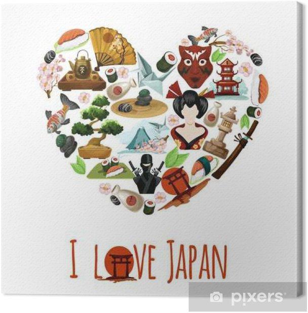 Obraz na płótnie Miłość Japonia plakat - Zasoby graficzne