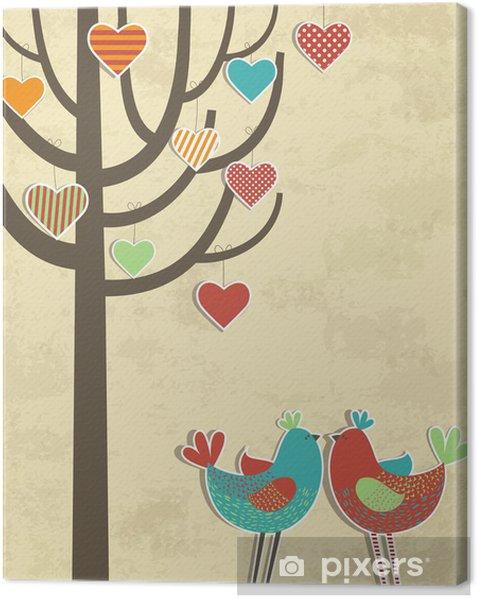 Obraz na płótnie Miłość ptaki karta - Szczęście