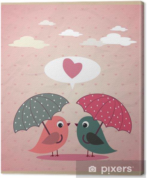 Obraz na płótnie Miłość ptaków wektor - Inne Inne
