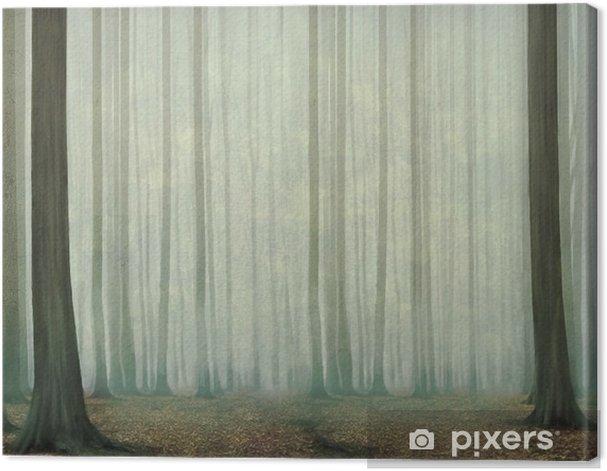 Obraz na płótnie Misty wieczorem w lesie - Krajobrazy