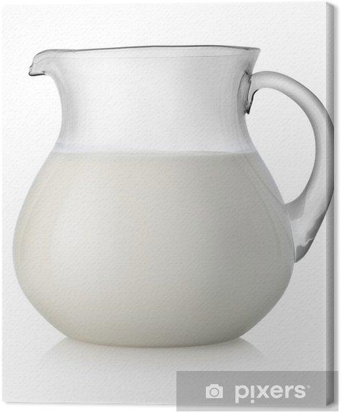 Obraz na płótnie Mleko w szklanym słoiku - Posiłki