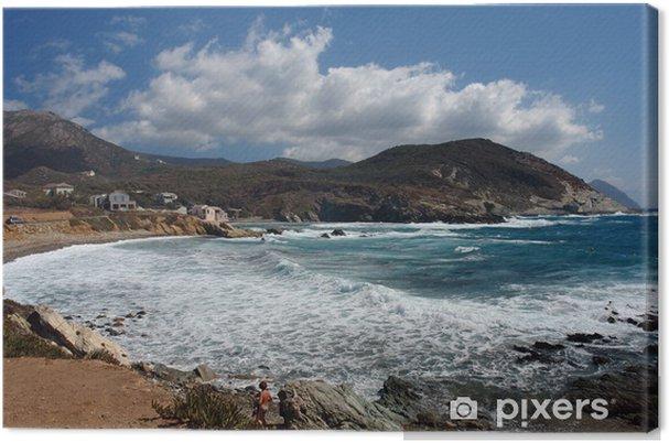 Obraz na płótnie Młoda kobieta i plaży w Cap Corse - Wakacje