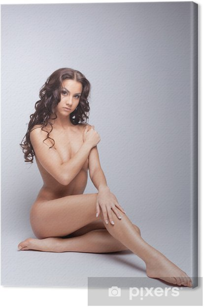 Obraz na płótnie Młoda naga kobieta pozuje do fotografii aktu - Tematy