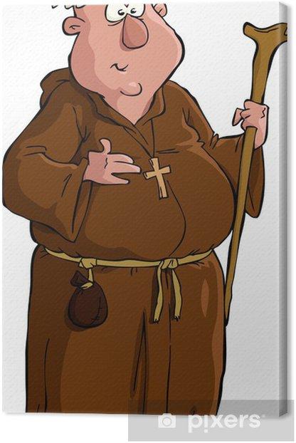 Obraz na płótnie Mnich cartoon - Mężczyźni