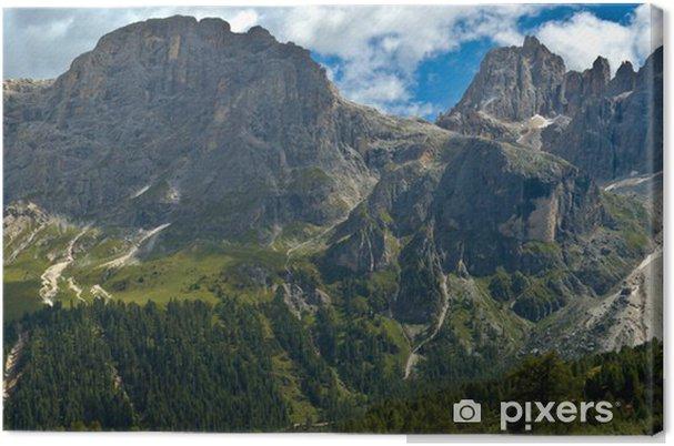 Obraz na płótnie Mocowanie Mulaz i góry Focobon, dolomity - Europa