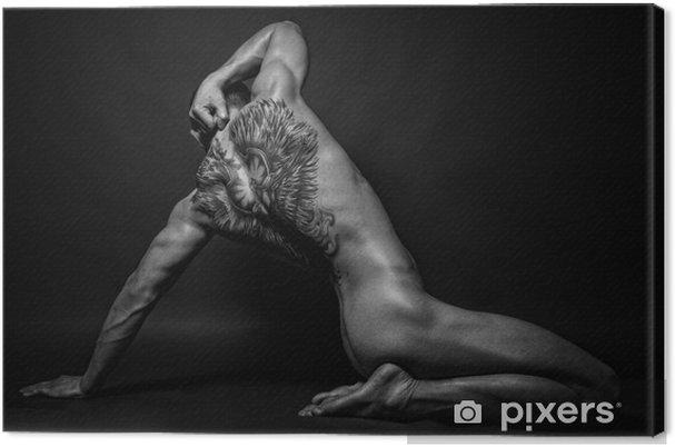 Obraz na płótnie Model z anioła tatuaż - Tatuaże