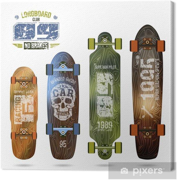 Obraz na płótnie Modny nadruk na longboard - Sporty na świeżym powietrzu