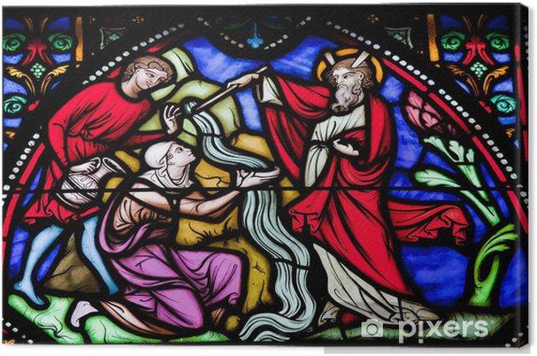 Obraz na płótnie Mojżesz uderza wodę ze skały - Budynki użyteczności publicznej
