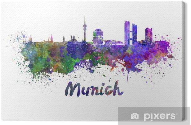 Obraz na płótnie Monachium skyline w akwarela - Naklejki na ścianę