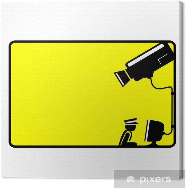 Obraz na płótnie Monitoring znak - Kamera - wektor - Czas