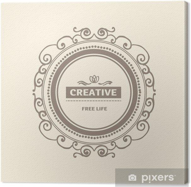 Obraz na płótnie Monogram luksusowe szablon logo - Tekstury