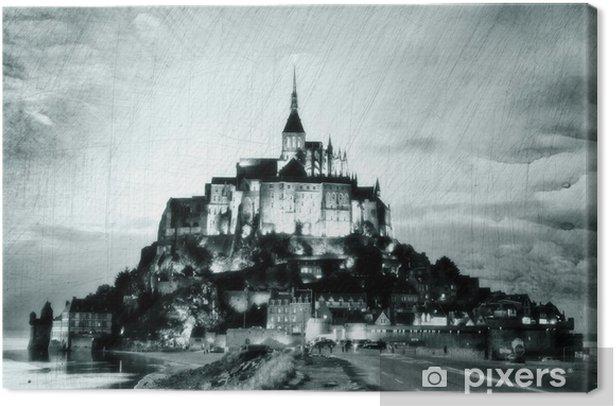 Obraz na płótnie Mont-Saint-Michel, vintage - Wakacje