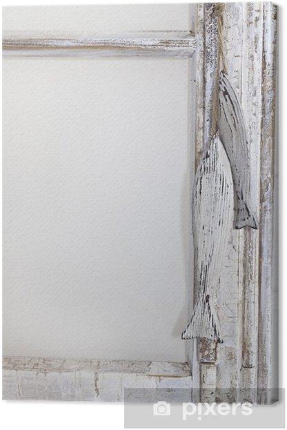 Obraz na płótnie Morskie dekoracje w starym oknie - Budynki prywatne