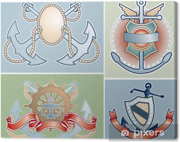Obraz na płótnie Morskie, odznaki - Sprzedaż