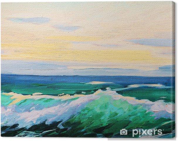 Zaawansowane Obraz na płótnie Morze, krajobraz, malarstwo olej na płótnie PO28